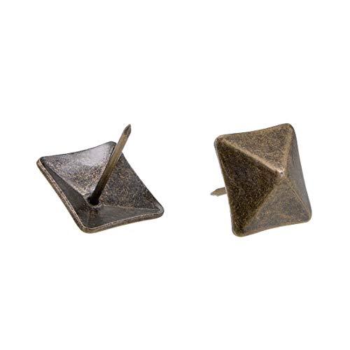 sourcing map 30 Stück Polsternägel 18mm Quadratischer Kopf Polsterung Nägel Möbel Reißnägel Reißzwecken Bronze -
