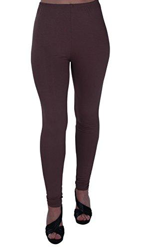 EyeCatch Oversize - Kaira Frauen Plus Size Stretch Damen-Hosen Leggings Hosen Ganzkörperansicht Braun Größe 56/58