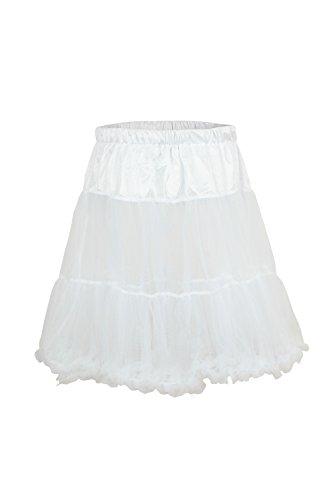 Ludwig und Therese Damen Trachten-Petticoat Betty weiß 1404 M