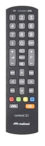 Meliconi control 2.1 telecomando universale 2 in 1, ideale per smarttv e decoder