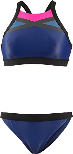 adidas Damen Beach Colorblock Bikini, Noble Indigo/Black, 38