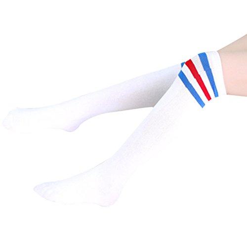 Butterme 1 paio Autunno Inverno bambini unisex Cotten strisce calzini ginocchio tubo per il bambino Bebè Bambino Bambina Bambino