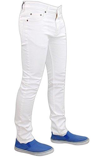 Herren G-72 Reißverschluss Im Hosenschlitz Stretch Eng Enganliegend Denim Jeans Baumwollhose Hose Weiß