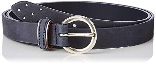 Brax Damen Ledergrtel Uni Mit Sternchen Gürtel, Blau (Blue 24), 6671 (Herstellergröße: 105)