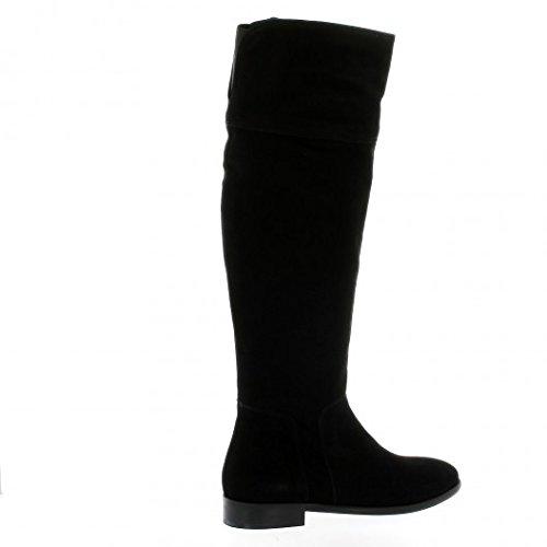 Pao Bottes cuir velours noir Noir