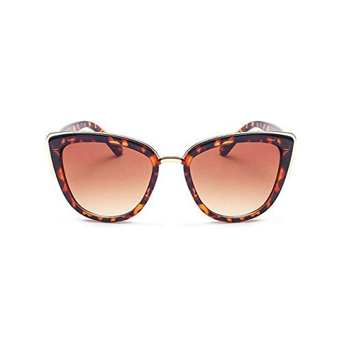 DongOJO Augen-Sonnenbrille-Frauen-Weinlese-Steigungs-Glas-Retro Augen-Sonnenbrille-weiblicher Mode-Brillen-Leopard