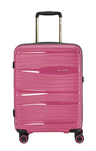 Valigia leggera da viaggio modello trolley, a 4 ruote,  robusta e maneggevole, con guscio rigido,disponibile  in 4 colori