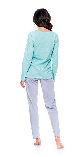 dn-nightwear - Ensemble de pyjama - Femme Mint Grey