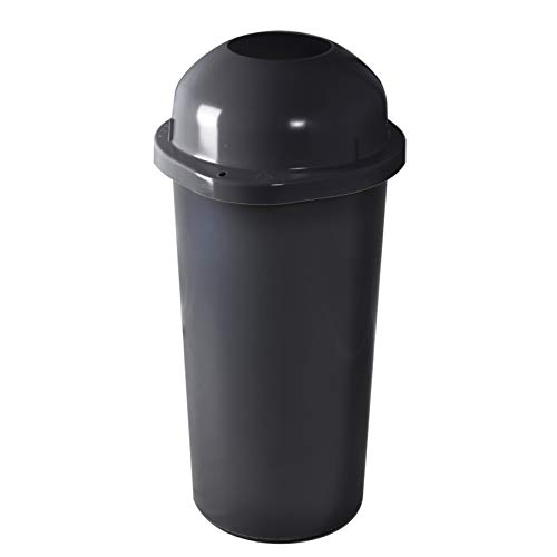 KUEFA 60L Mülleimer/Müllsackständer mit Einwurf (Grau)