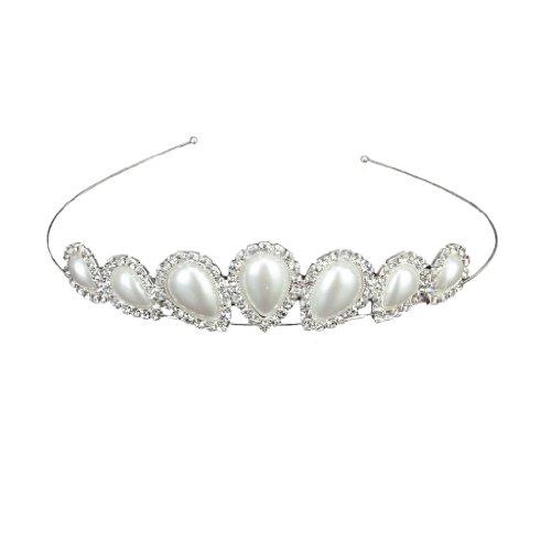 Stirnband Tiara Hochzeitsfeier Brautjungfer Blumenmädchen Kristalltropfenform Perle Krone