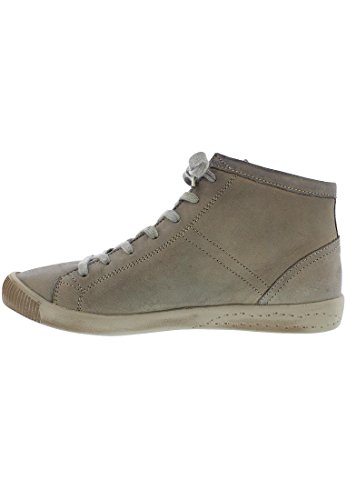 Softinos Damen Isleen Smooth Hohe Sneaker Taupe
