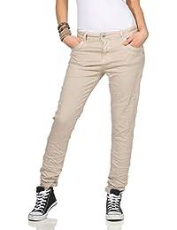 017a7e3b5 Karostar Chinos Vaqueros de Mujer Baggy Pantalón Boyfriend Pantalones  Cintura Baja 19