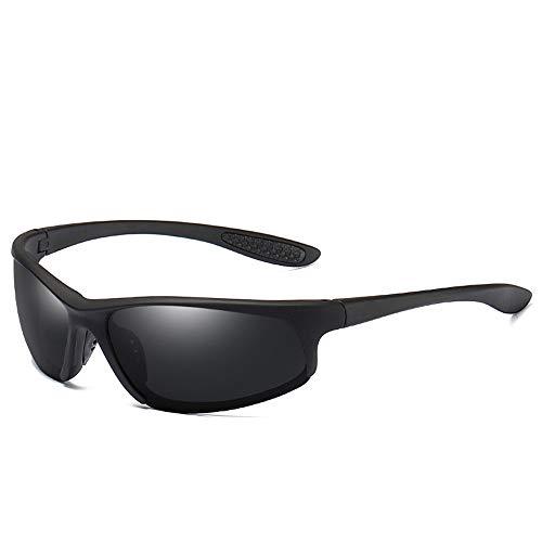 Gläser Sonnenbrillen für Herren mit polarisierten Gläsern für leichten UV-Schnitt und UV-Angelsport Brillen (Color : Schwarz, Size : Kostenlos)