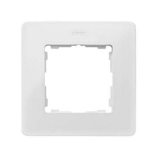Simon 8200610-230 - Marco 1 Elem. Blanco Base Aluminio