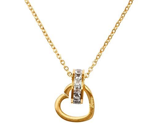 kette. Hochwertige Damen Kette mit 18 Karat Goldplattierung. Kettenlänge 40+5cm (extra). Designed in Deutschland ()