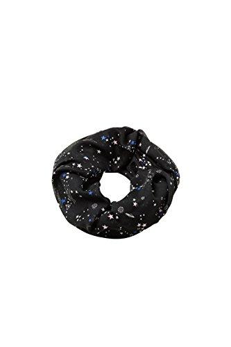 edc by Esprit Accessoires 078ca1q001, Bufanda para Mujer, Negro (Black 001), única (Talla del Fabricante: 1SIZE)