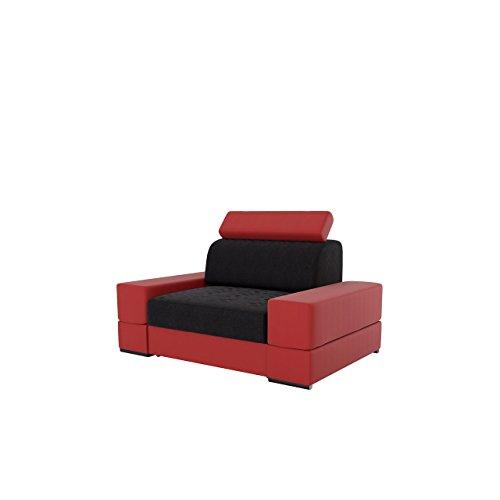 Sessel Tires mit verstellbaren Kopfstützen und Schublade, Design Polstersessel Armsessel Relaxsessel Loungesessel Ohrensessel, (Soft 50 + Victoria 100)