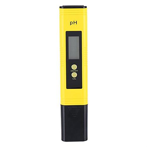 Gen-pool (Wasser PH Tester, Tasche Größe PH Meter Tester, hohe Genauigkeit Wasser Quality Tester, wasserdichte Digital PH-Tester zum Haushalt trinken, Aquarium und Pool, Messbereich von 0-14 PH, 0.01PH hohe Gen)