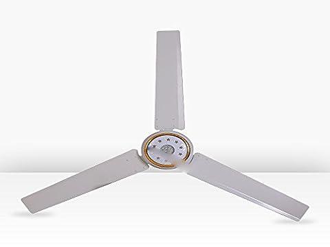 SDKKY Accueil 56 pouces avec lampe LED ventilateur de plafond, ventilateur de plafond