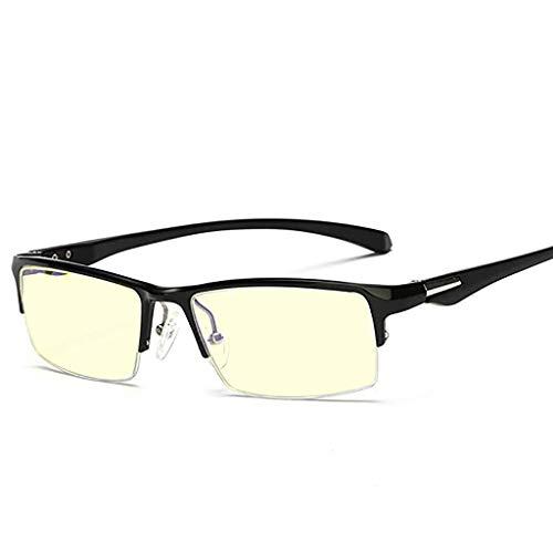 Glücklich zusammen Anti-Blu-ray-Computer-Schutzbrillen-Aluminium-Schönheits-Rahmen-Persönlichkeitsgeschäfts-Halbrahmen-Augen-Rahmen-Rahmen-männlicher optischer Optiker (Color : A)
