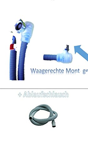 Aquastop Schlauch/Aquastop/Sicherheitszulaufschlauch für Waschmaschine und Geschirrspüler 2,5m + Aktion mit Ablaufschlauch 2,5m