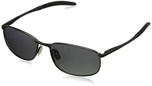 kimorn Polarisierte Sonnenbrille Herren Retro Rechteckig Rahmen Klassisch Unisex Gläser K0535 (Grau&Schwarz)