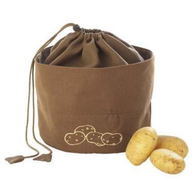 Image of Lakeland Segeltuch Kartoffelbeutel, atmungsaktiv, braun, 24cm Ø x 21cm, für 3 kg