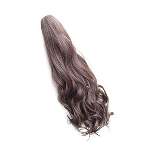 Floridivy 55cm Frauen-Mädchen-Lange lockige Wavy Pferdeschwanz Erweiterung synthetischen Haar-Stück-Klipp-Haar-Verlängerungen - Synthetische Haarverlängerungen