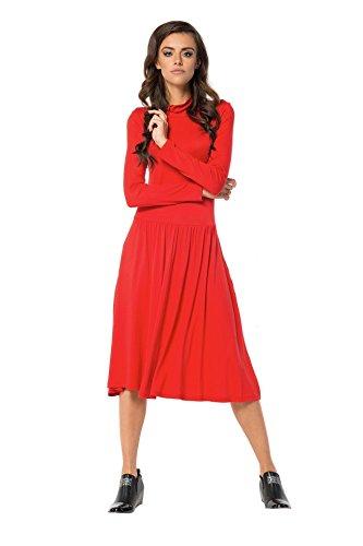 AE -  Vestito  - Triangolo - Maniche lunghe  - Donna Rot