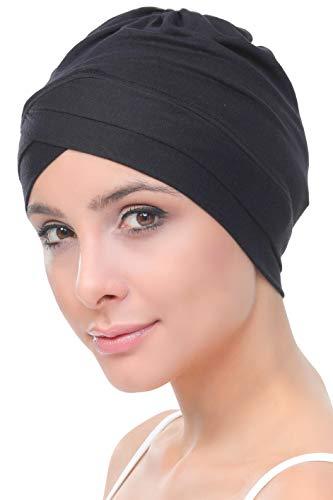 Deresina Headwear W Bonnet en Coton pour Chimio (Noir)