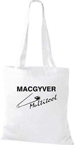 Involucro In Tessuto Shirtinstyle Mac Gyver Multi Tools Diversi Farbe White