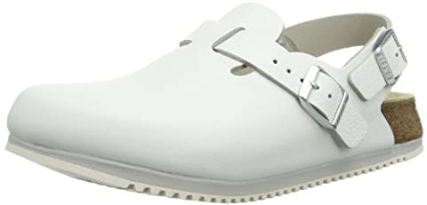 Birkenstock Professional Tokio, Unisex-Adult Clogs and Mules, White (Weiss), 4