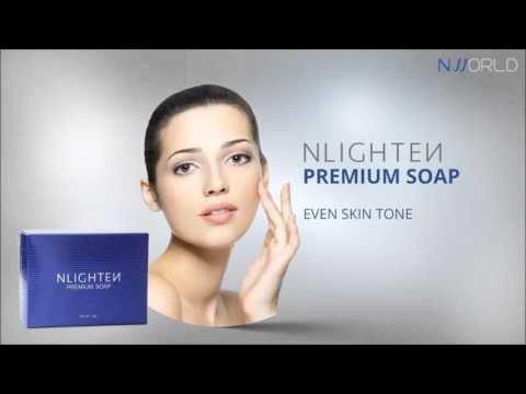 Authentic nlighten Premium Chiara Bar sapone potente Idratante con Olio di Argan, Aloe Vera e collagene 90g.