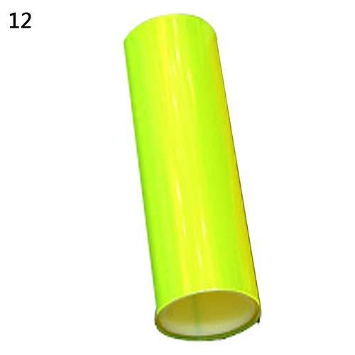 nieliangw0q 2 Stücke Auto Auto Nebelscheinwerfer Scheinwerfer Rücklicht Tönung Vinyl Film Blatt Aufkleber - Gelb Orange