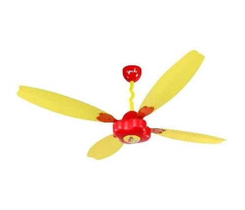 Orient Fantoosh 47-inch 65-watt Kids Ceiling Fan (red And Yellow)
