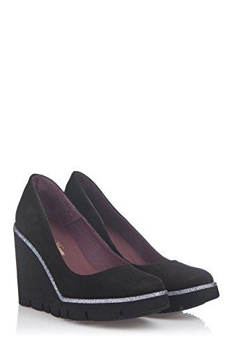 Laura Moretti Damen Wedge Shoes Keil Schwarz