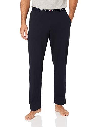 Tommy Hilfiger Jersey Pant Pantalones de Deporte, Azul Navy Blazer 416, 29 Talla del Fabricante...