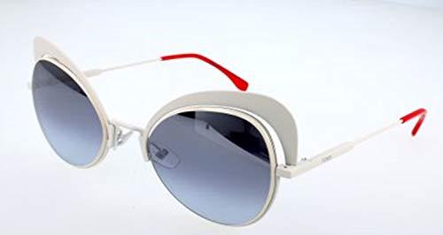 Fendi Damen FF 0247/S GO VK6 Sonnenbrille, Weiß (White/Grey Azure Silv), 54