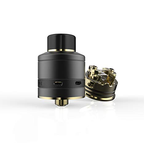 JWell Krome RDA Tank, Sub-ohm Tank Atomizer Verdampfer, Electronic Zigarettes Clearomizer liquid Refillable Accessories/Ohne Nikotin Ohne Tabak Black