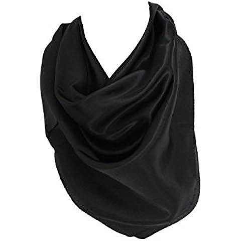 Elegantes colores sólidos de satén de seda de la bufanda del pañuelo del cuello del cuadrado abrigo de la cabeza