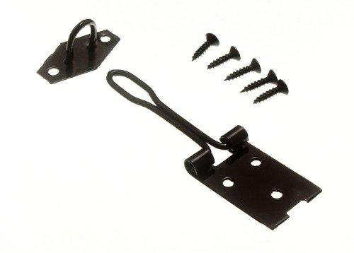 noir fermoir fil de sécurité de type et de base pour le pad se verrouille 100mm avec vis