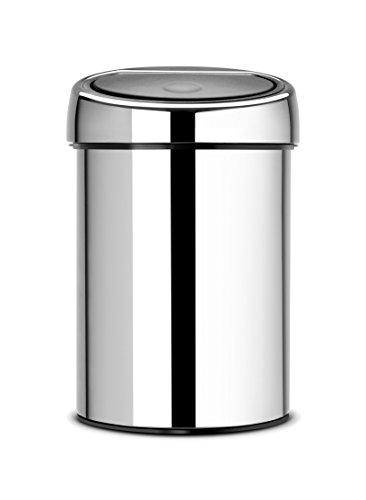 brabantia-touch-bin-cubo-de-basura-3-litros-cubo-interior-de-plastico-extraible-acero-brillante