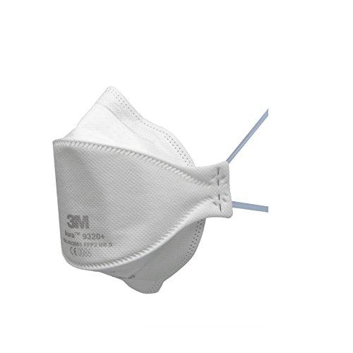 3M Aura Atemschutzmaske 9320+ - Komfortable Partikelschutzmaske mit optimaler Gesichtsanpassung - Einwegmaske mit Schutzstufe FFP2 - 20 Stück, einzeln verpackt