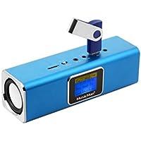 Technaxx Musicman MA - Altavoz portátil (Jack 3.5 mm, USB, MicroSD, 2 x 3 W RMS, pantalla LCD, UKW, 150 Hz - 18 kHz), color azul