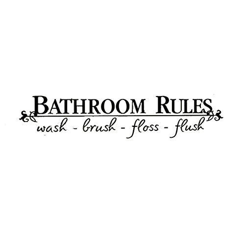 hworte Regel Badezimmerwand Aufkleber Badezimmer Deko-Ideen ()