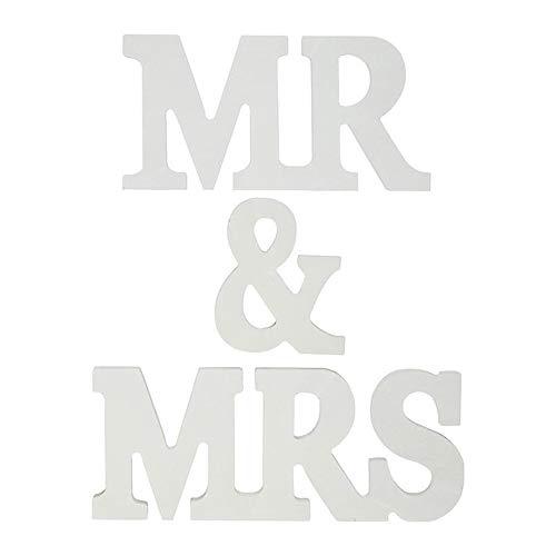 Limeo Mr Mrs Buchstaben Mr & MRS Schild aus Holz Deko Buchstaben Hochzeit Hochzeit Deko Present Buchstabe Holzbuchstabe Hochzeit Dekoration für Geburtstag Hochzeit Fest Deko,15*8cm,22*8cm (MR & MRs)