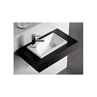 LAVABO SOBREMUEBLE/ENCASTRE BATHCO DE RESINA SOMO MEDIDAS: 420x250x120