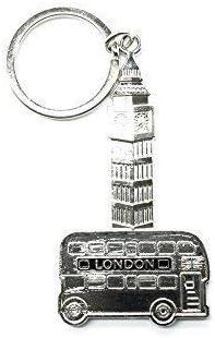 Argent Beg Ben Bus Porte-clé 2D Métal Moulé Sous Pression Pression Pression Londres Royaume-Uni Britannique Souvenir by Trimming Shop | à Bas Prix  70b1c7