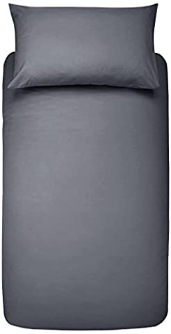 AmazonBasics Microfibre Duvet Cover Set – 135 x 200 cm, Dark Grey
