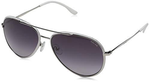 Bulgari 0bv5037 400/6g 59 occhiali da sole, argento (matte silver/lightgreymirrorsilver), uomo
